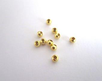 set of 50 3mm gold metal beads
