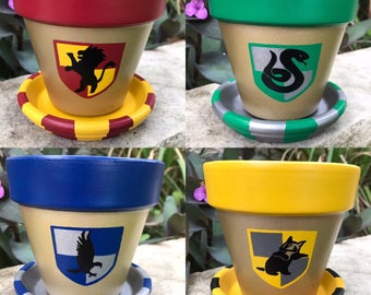 Harry Potter Hogwarts House Flower Pots