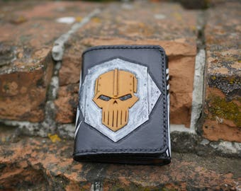 Handmade wallet natural leather stylished by Warhammer 40k