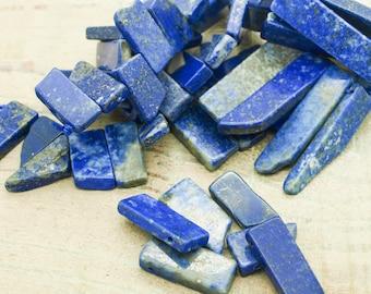 Beads (lot 2) rectangle Lapis lazuli set of 4