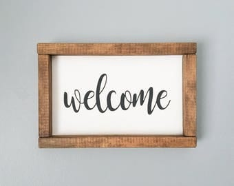 Welcome Sign FREE SHIPPING