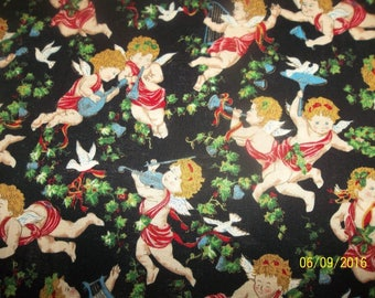 Stardust Cherubs Angels Cotton Fabric #85
