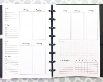 UNDATED Weekly Inserts for Discbound Planners, ARC Junior, TUL, 8 Disc Planners