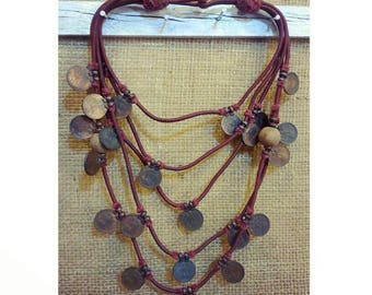 vintage coins necklace