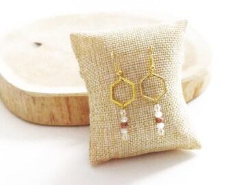 """Hexagon Gold"" earrings"