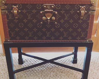 Louis Vuitton Vintage Monogram Boite Flacons Travel Trunk Case - an End Table!