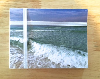 """Handmade Note Cards """"Beach Oasis"""" Original Design: 10 Cards and 10 Envelopes - Ocean and Nature Stationery"""