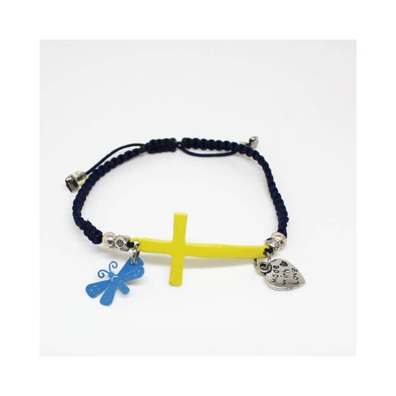 SHAMBALLA BRACELET yellow cross