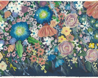 Floral painting, abstract floral art, flower print, flower art,giclee print, flowers