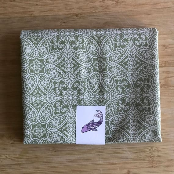 "Buttercream Stella Collection Premium Cotton Fabric Fat Quarter - Designer Fabric - Quilting Fabric - Fat Quarter 18"" x 21"" Sage Green"