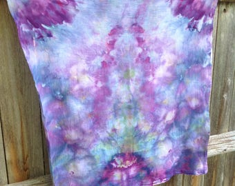 """100% Cotton Flour Sack Towel in Purples and Blues 29"""" x 29"""""""