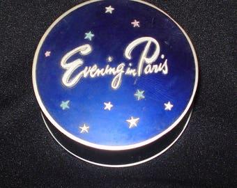 Vintage Evening in Paris Powder Box