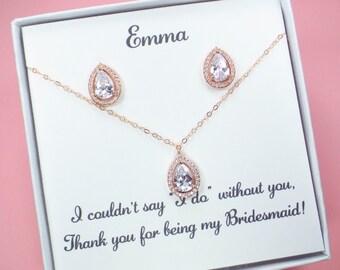 Bridesmaid Gift set,Bridesmaid Earrings,Bridal Jewelry set,Crystal Earrings,wedding jewelry,Bridal earrings,Cubic Zirconia earring