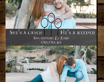 She's a Catch, He's a Keeper Harry Potter Save the Date *Digital
