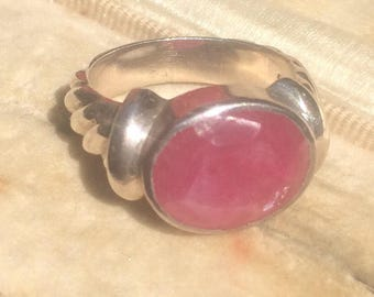 Vintage Ruby Ring, Ruby Ring, Ruby Silver Ring, Vintage Ring, Ruby Jewellery, Vintage Jewellery,  Statement Ring, Vintage Jewelry, Old Ring