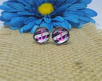 Anchor Earrings, Nautical Earrings, Anchor Stud Earrings, Stainless Steel Stud Earrings, Hypoallergenic, Stud Earrings, Nautical, 12mm