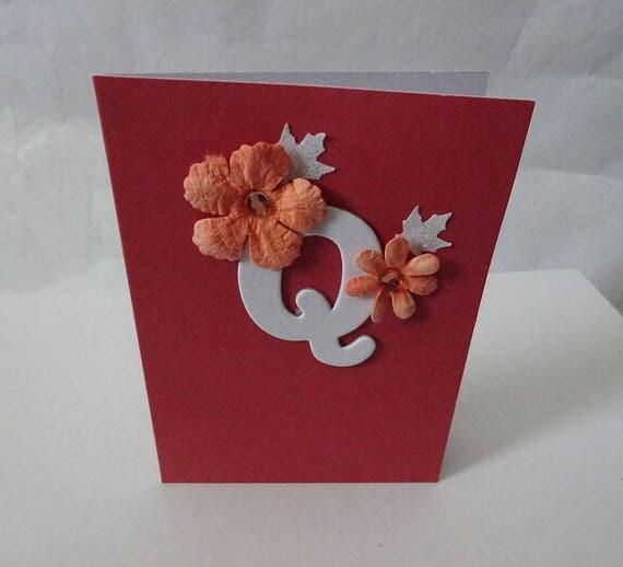 """Monogram/Initial Card - Letter """"Q"""""""