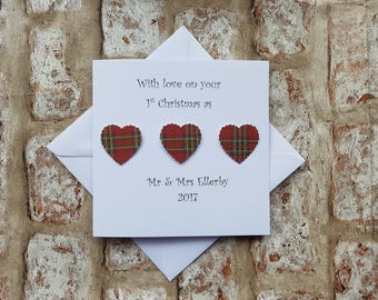 Personalised Christmas card for 1st Christmas as a married couple first Christmas married 1st christmas as Mr & Mrs