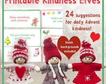 Kindness Elves notes for Advent Acts of Kindness Christmas kindness RAOK