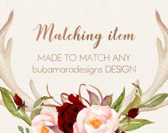 ADD MATCHING Item, Item to match any of BubamaraDesigns design, add on