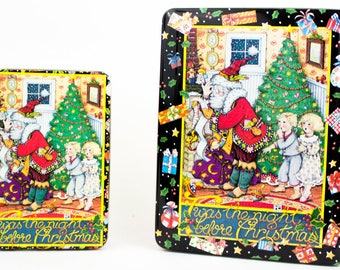 Mary Engelbreit Santa Night Before Christmas Tins