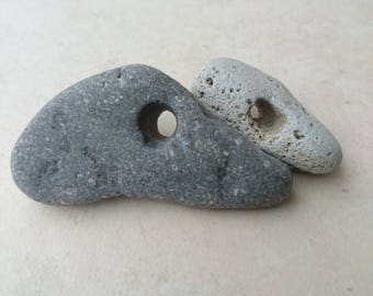 Holey Stones, Hag Stones, Lucky Stones, Odin Stones, Beach Stones, Scottish Stones, Witches Stones, Craft Supply, Collectible Stones