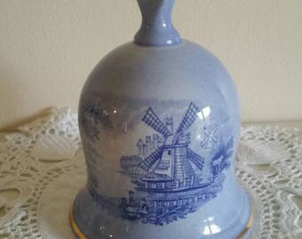 Royal Worcester china bell/palissy royal collection/English china windmill design/ships worldwide from UK