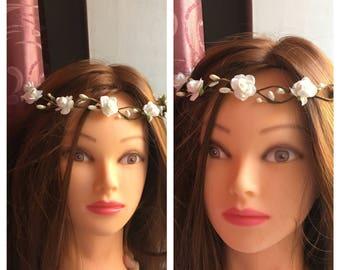 Flower Crown Boho crown Flower crown wedding Flower girl wreath Rustic flower crown Bridal floral crown