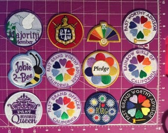 Masonic Youth Group Iron On Patches - Rainbow - Jobies - DeMolay