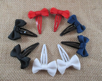 Very trendy, Different color hair bow Barrettes.