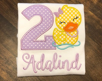 Rubber Ducky Birthday Shirt // Rubber Duck Birthday Shirt // Duck Birthday Shirt // Ducky Birthday Shirt // Rubber Duck 1st First 2nd 3rd