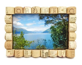 Wine Cork Picture Frame, Wine Cork Photo Frame, Cork Frame, Picture Frame, Wine Theme, Wine Lovers, 4x6 Frame, 5x7 Frame, Gift for Her