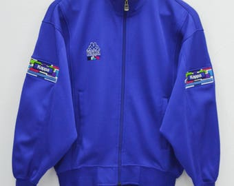 "KAPPA Track Top Vintage 90's Kappa ""For The Spirit Within"" Made In Japan Track Top Zipper Jacket Sweater Size M"