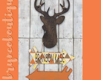 Deer / Arrows / Hospital Door Hanger / Welcome Baby / Birth Announcement