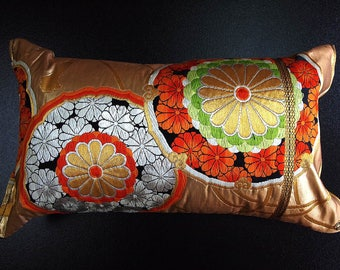 Cushion of Obi (Kimono) Japanese Silk  0000100