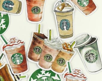 Bag of 27 starbucks style stickers