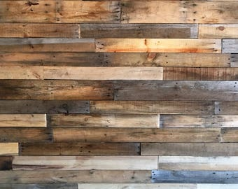 Reclaimed Pallet Boards 25 sq ft *Sealed* - Dismantled Pallet Wood -  Reclaimed Wood
