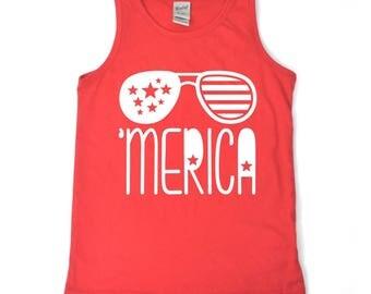 Merica tank, merica shirt for kids, 4th of july shirt for kids, boys 4th of july shirt, america shirt for boys