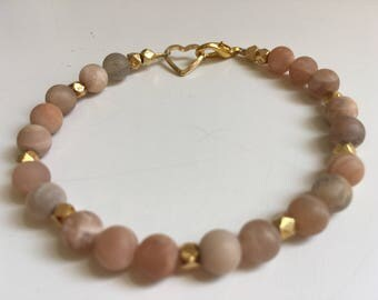 Natural Moonstone Bracelet (Bead Collection)