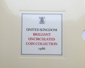 1986 Brilliant Uncirculated Coin Year Set Collection - Royal Mint