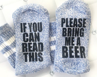If You can read this, please bring me WINE socks - wine socks - bottoms up socks - wine gift - pink wine socks - pink socks - fun gift  wine
