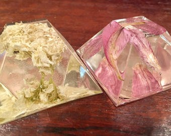 Real preserved flower paperweights, resin paperweight, diamond paperweight