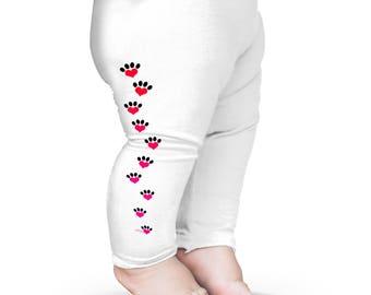 Girls Leggings Spandex Dog Cat Print