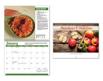 2018 Nutritious and Delicious Spiral Wall Calendar