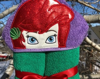 Ariel Inspired Hooded Bath Towel