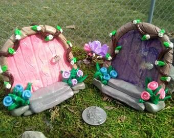 Fairy Doors, fairy garden, fairy house, gnome handmade, polymer clay, miniatures