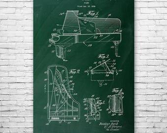 Steinway Piano Poster Patent Art Print Gift, Piano Wall Art, Piano Patent, Piano Player Gift, Piano Teacher Gift, Pianist, Musician Gift