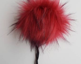 The RUBY pom pom // Faux fur pom poms, handmade hat accessory, cruelty free fur, large pom poms, 5 inch