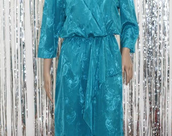 Glamour Vintage Turquoise Dress by PBJ