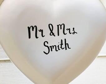 Personalised commemorative wedding plate // custom wedding heart plate